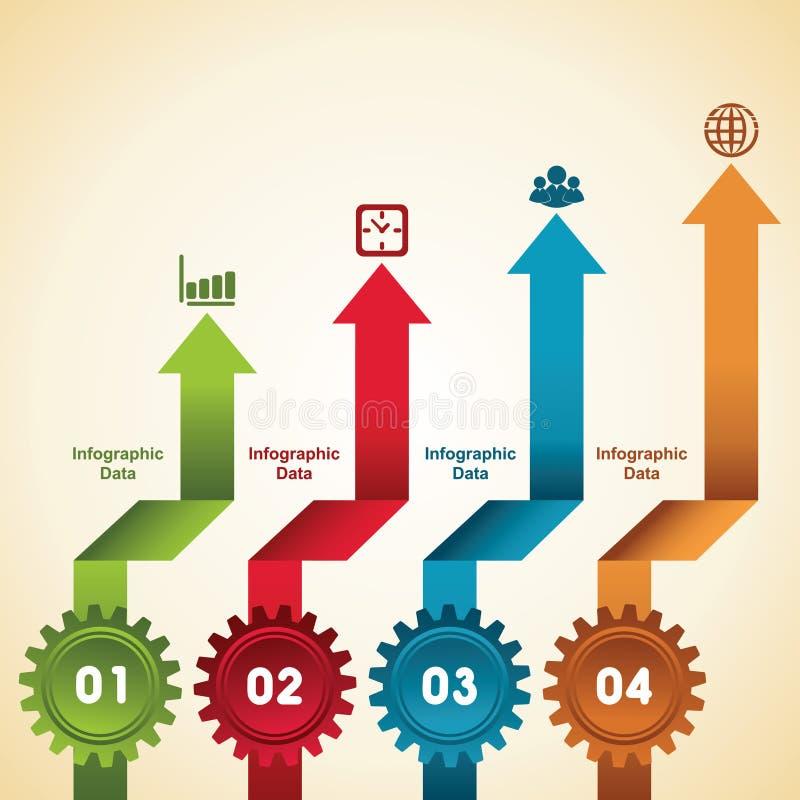 Kreative Gangc$information-graphik-Wahlfahne stock abbildung