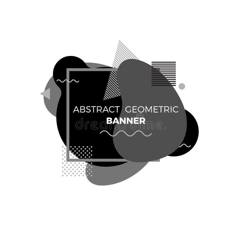 Kreative geometrische Fahnenschablone der Zusammenfassung Moderne futuristische grafische Elemente für Musikalbumabdeckung oder a lizenzfreie abbildung