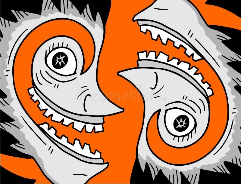Kreative Gesichter vektor abbildung