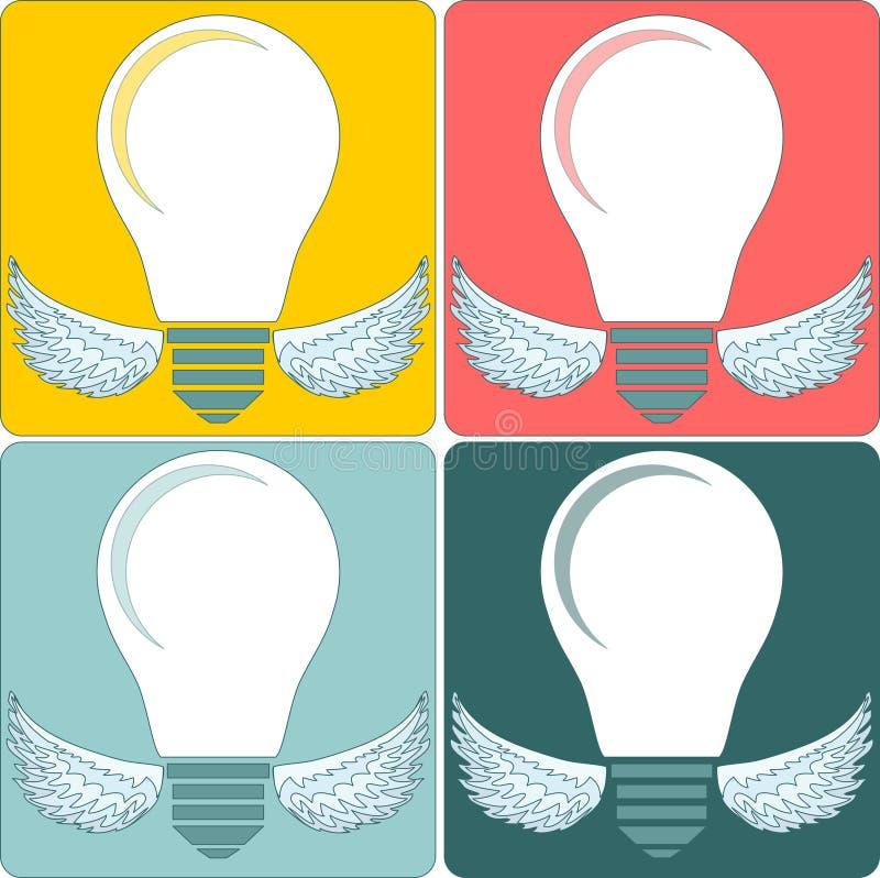 Kreative Glühlampe Ansammlung Auslegungelemente lizenzfreie abbildung