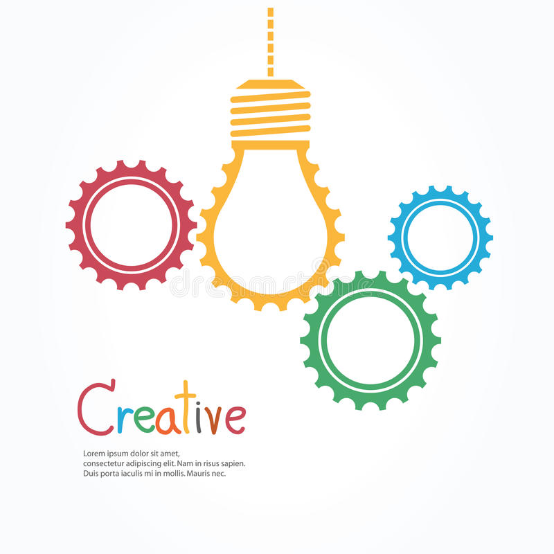 Kreative Glühlampe und Gang vektor abbildung