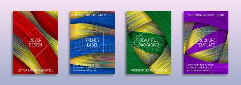 Kreative Hintergründe für Abdeckungsentwurf von farbigen und ganz eigenhändig geschrieben Streifen Modische Aufkleber f?r sch?ne  lizenzfreie abbildung