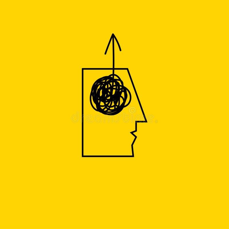 Kreative Idee der abstrakten Ikone stock abbildung