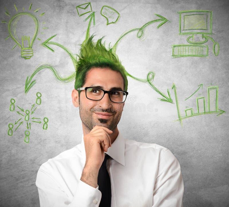 Kreative Idee eines Geschäftsmannes lizenzfreie stockfotos