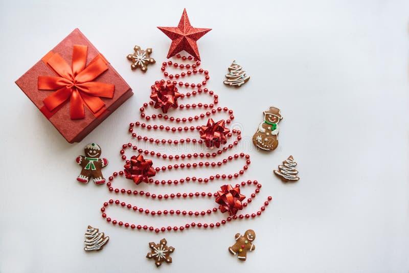 Kreative Idee für Weihnachts- oder des neuen Jahresthema Feierliches Konzept stockfotos