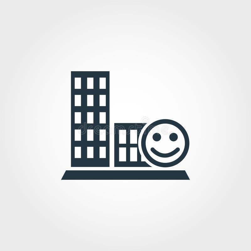 Kreative Ikone der Geselligkeit Einfarbiger Artentwurf von der Urbanismikonensammlung Geselligkeitsikone für Webdesign vektor abbildung