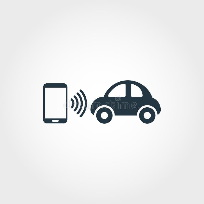 Kreative Ikone der Mobilität Einfarbiger Artentwurf von der Urbanismikonensammlung Mobilitätsikone für Webdesign, Apps stock abbildung