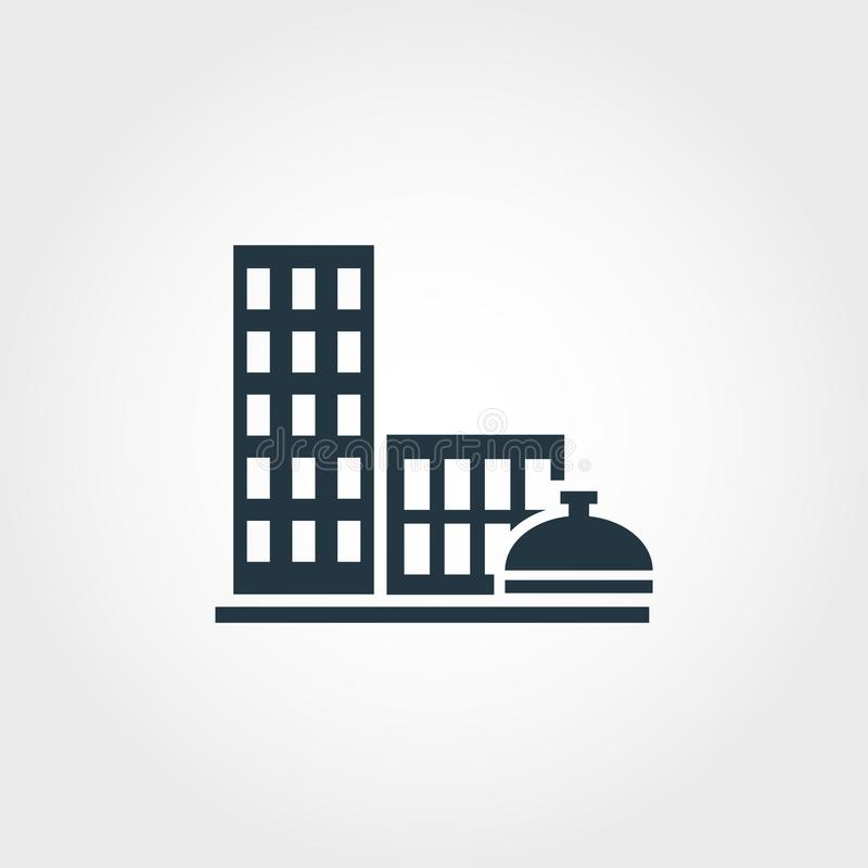 Kreative Ikone der Stadt-Services Einfarbiger Artentwurf von der Urbanismikonensammlung Stadt-Service-Ikone für Webdesign lizenzfreie abbildung
