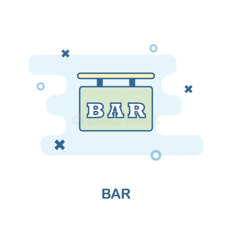 Kreative Ikone des Stangen-Zeichens in der Farbe Einfache Elementillustration Bar-Zeichenkonzept-Symbolentwurf von der Bar- und R vektor abbildung
