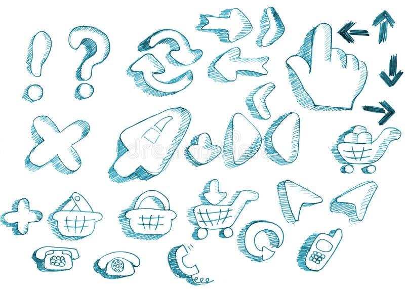 Kreative Ikonen der Entwerfer eingestellt vektor abbildung