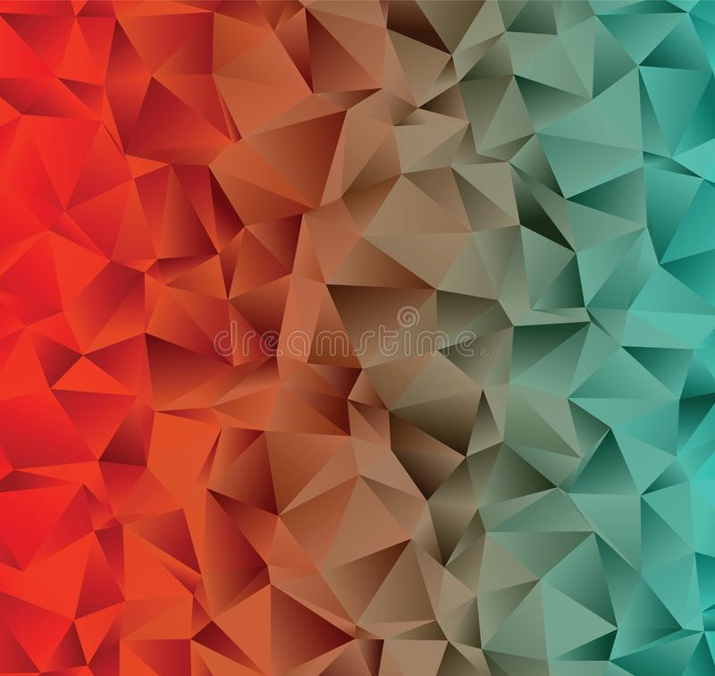 Kreative Illustration in der polygonalen Halbtonart mit Steigung Dieses ist Datei des Formats EPS8 stock abbildung