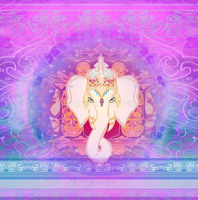 Kreative Illustration des Hindus Lord Ganesha vektor abbildung