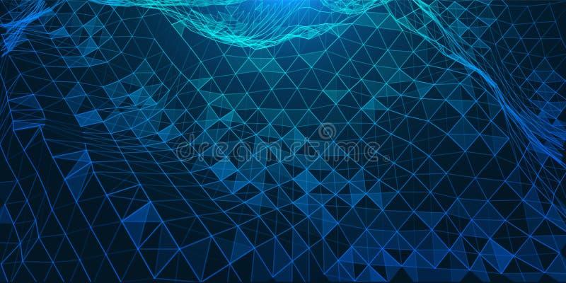 Kreative Illustration mit niedriger Polyverbindungsstruktur stockfotos