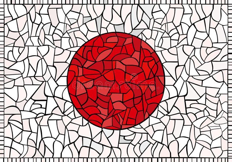 Kreative JAPAN-Staatsflagge lizenzfreie abbildung