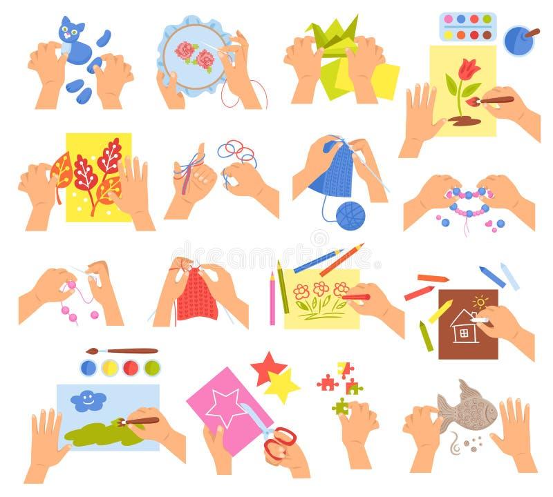 Kreative Kinder eingestellt lizenzfreie abbildung