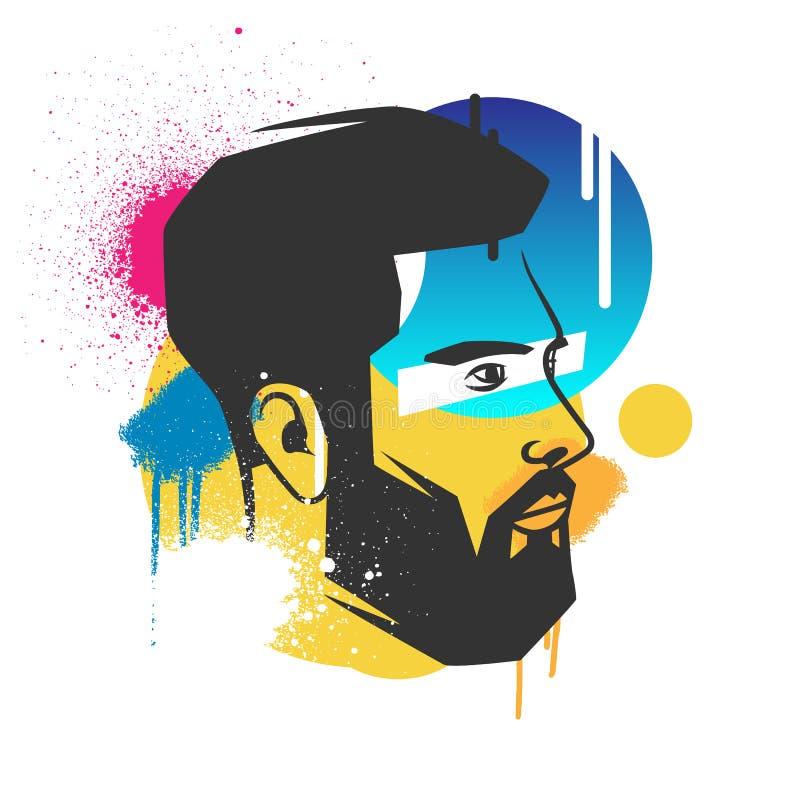Kreative Konzepte eines Gesichtes lizenzfreie abbildung