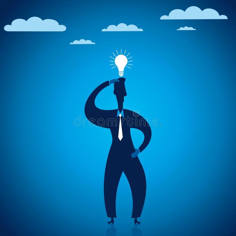 Download Kreative Konzeptgeschäftsmänner Vektor Abbildung - Illustration von hand, leuchte: 27725966