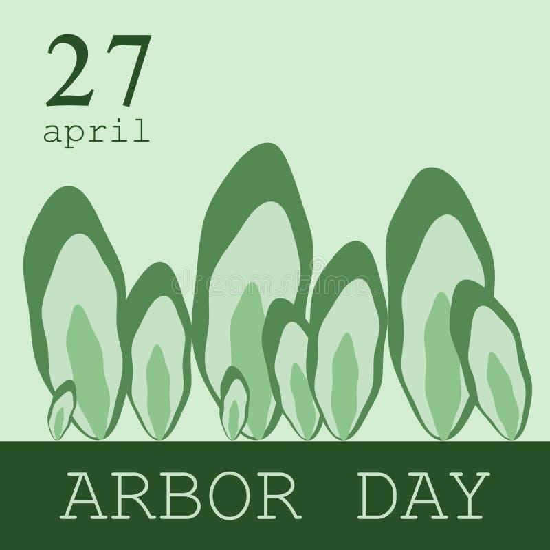 Kreative Konzeptillustration für die Feier des Tages des Baums Kann für Plakat, Ausweis, Logo, Grüße, Druck verwendet werden lizenzfreie abbildung