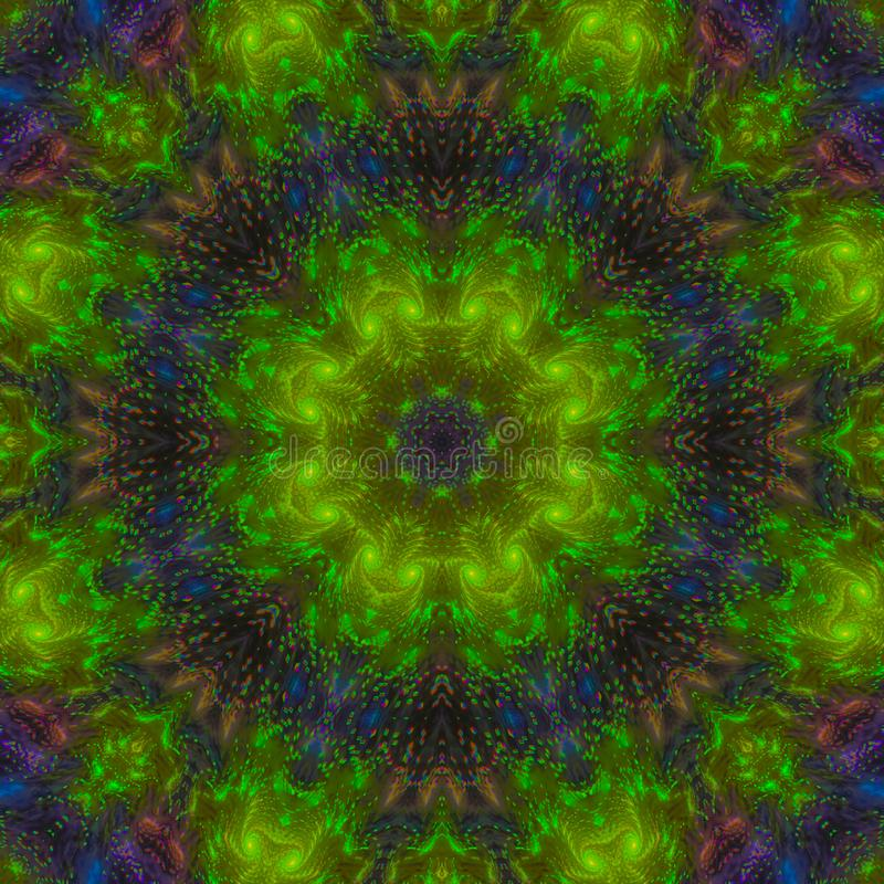 Kreative Mandala der abstrakten digitalen Formbeschaffenheits-Tapete des Kaleidoskops grafischen, Farbverzierung, Dekorhintergrun stockbild