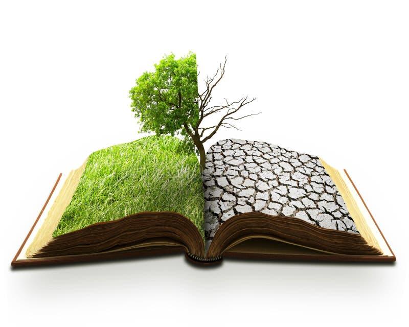 Kreative Naturkatastrophe der Konzeptlandschaftsglobalen Erwärmung lizenzfreies stockfoto