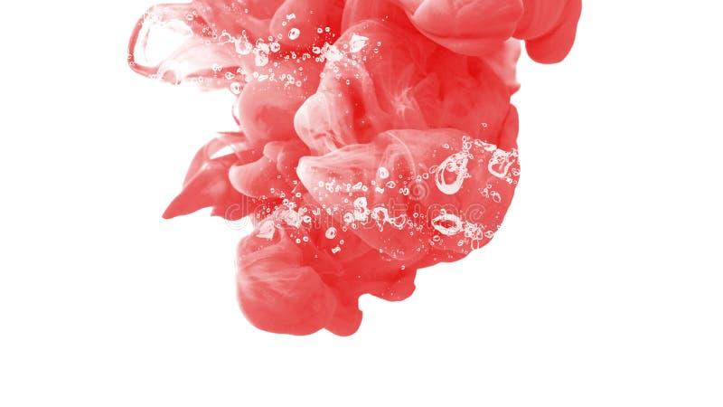 Kreative Ruhe der ehrfürchtigen Tintentropfen-Wasserfarbhintergrundzusammenfassungs-Bewegung lizenzfreie abbildung