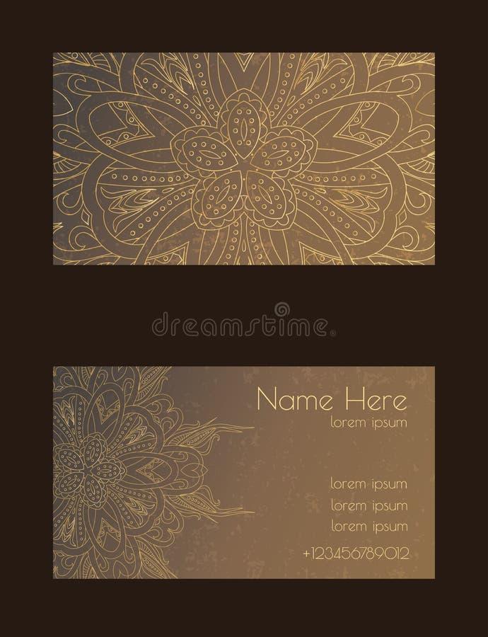 Kreative Schablone für Designer, Fotografen oder Studio Vector editable Muster mit Besuchskarten der vorderen und Rückseite lizenzfreie stockfotografie