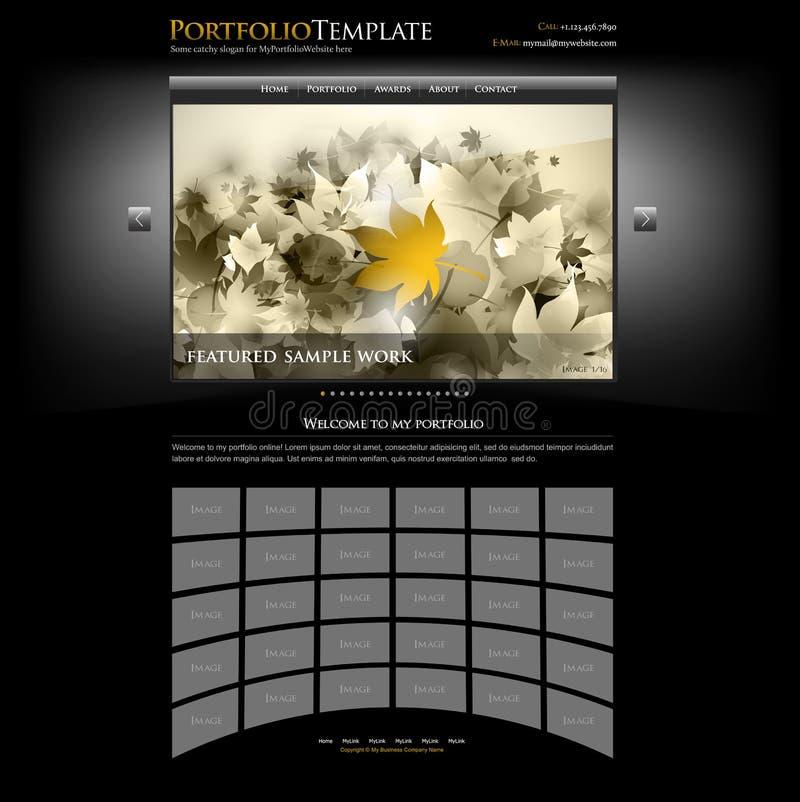 Kreative siteportefeuille-Schablone - editable lizenzfreie abbildung