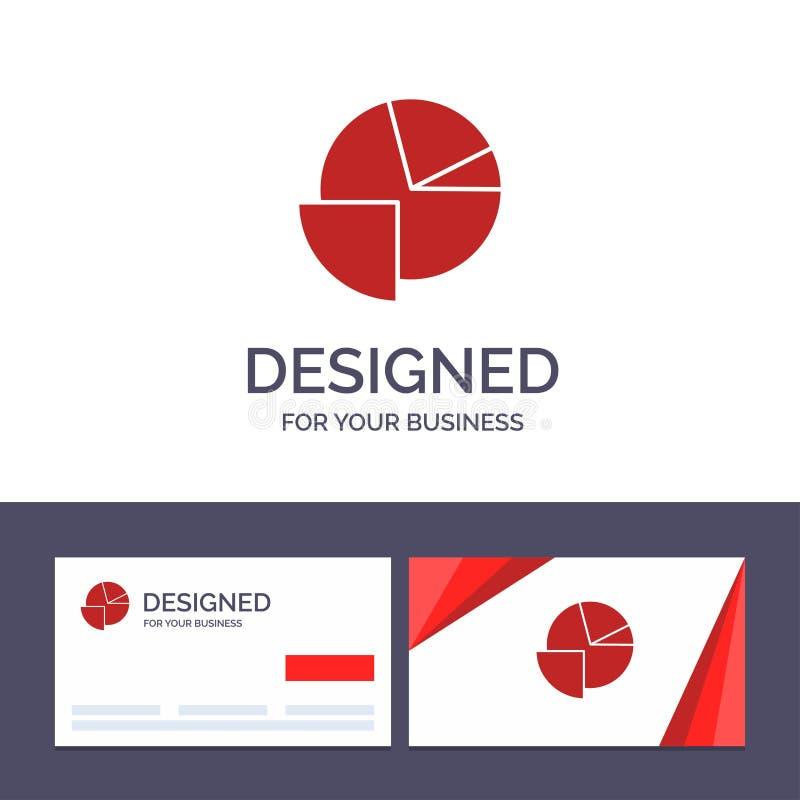 Kreative Visitenkarte- und Logoschablone Analytics, Diagramm, Torte, Diagramm-Vektor-Illustration stock abbildung
