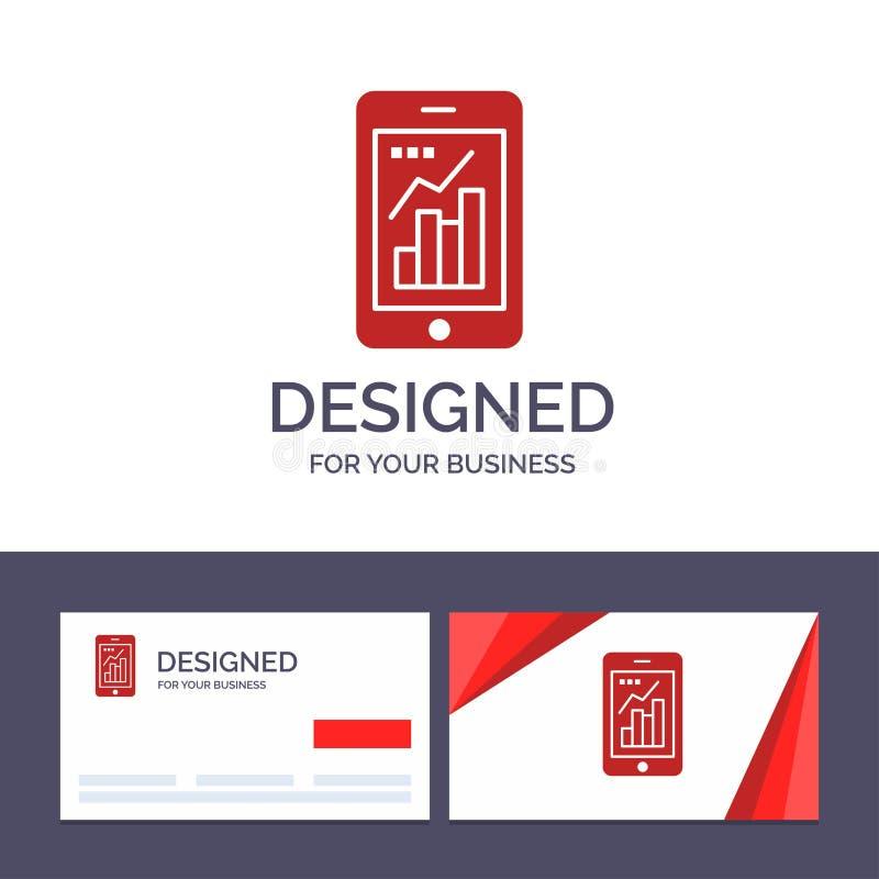 Kreative Visitenkarte- und Logoschablone Diagramm, Analytics, Informationen grafisch, bewegliche, bewegliche Diagramm-Vektor-Illu vektor abbildung