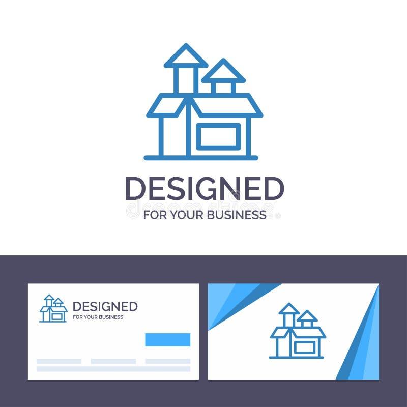Kreative Visitenkarte- und Logoschablone Management, Methode, Leistung, Produkt-Vektor-Illustration lizenzfreie abbildung