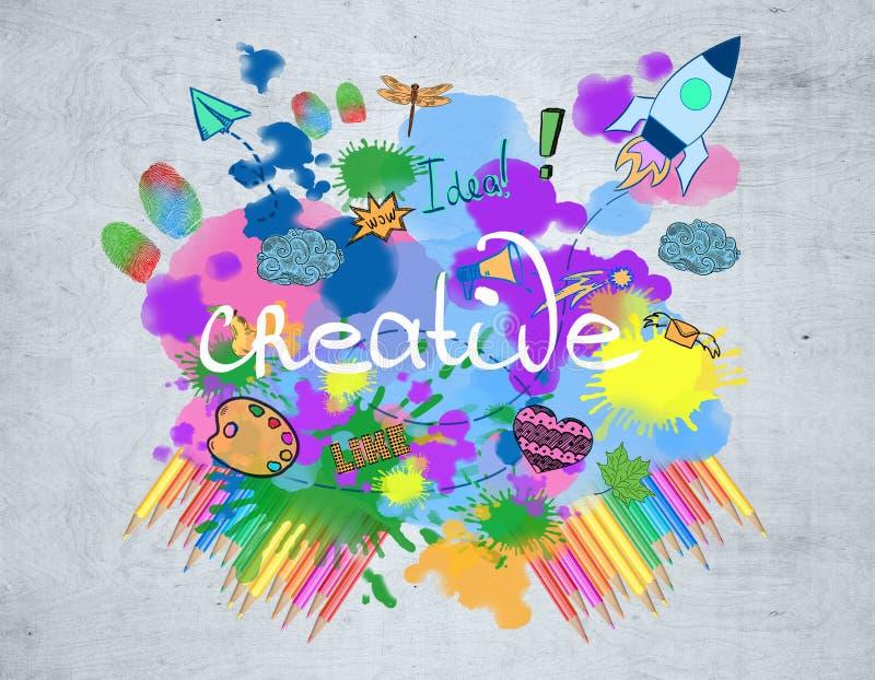 Kreative Zeichnung stock abbildung