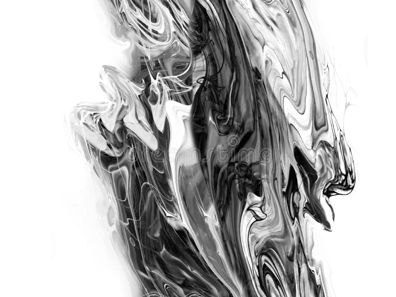 Kreativer abstrakter handgemalter Hintergrund, Tapete, Beschaffenheit, Nahaufnahmefragment der Acrylmalerei auf Segeltuch mit B?r stock abbildung