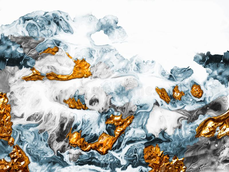 Kreativer abstrakter handgemalter Hintergrund, Tapete, Beschaffenheit, Nahaufnahmefragment der Acrylmalerei auf Segeltuch mit B?r lizenzfreie abbildung