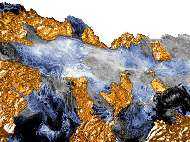 Kreativer abstrakter handgemalter Hintergrund, Tapete, Beschaffenheit, Nahaufnahmefragment der Acrylmalerei auf Segeltuch mit B?r vektor abbildung