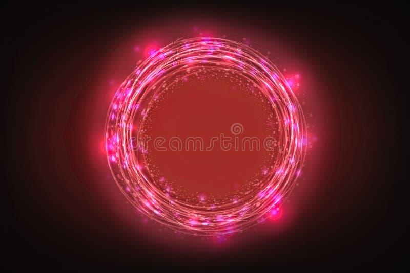 Kreativer abstrakter Technologiehintergrund, innovativ, Idee und futuristisches denkendes Konzept vektor abbildung