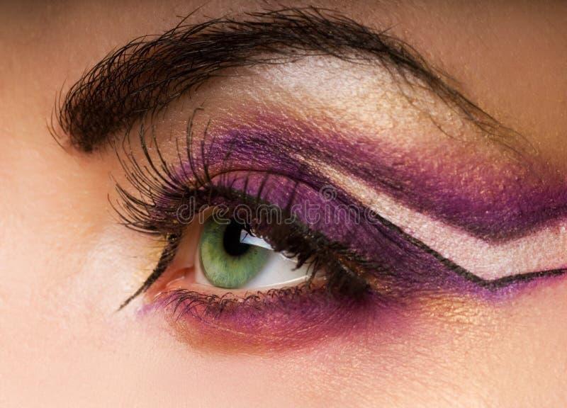 Kreativer Augenlack stockfotos