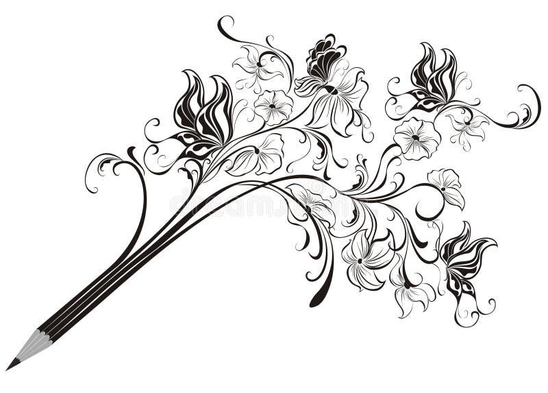 Kreativer Bleistift lizenzfreie abbildung