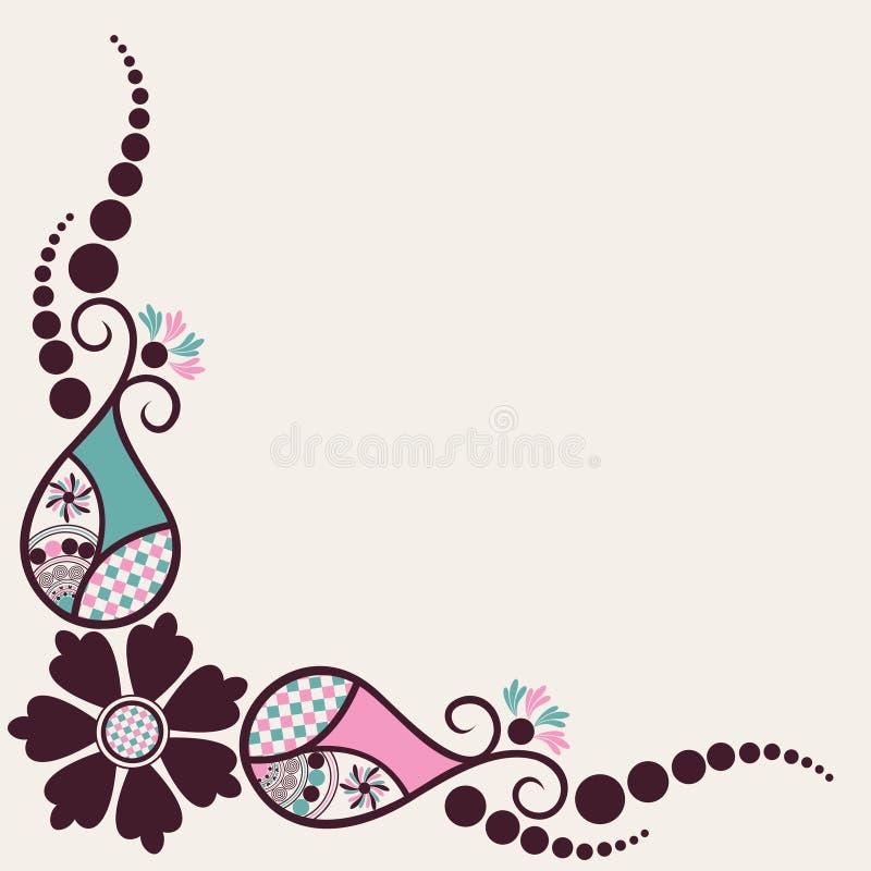 Download Kreativer Blumen- Und Zweighintergrund Vektor Abbildung - Illustration von einladung, braun: 27726103