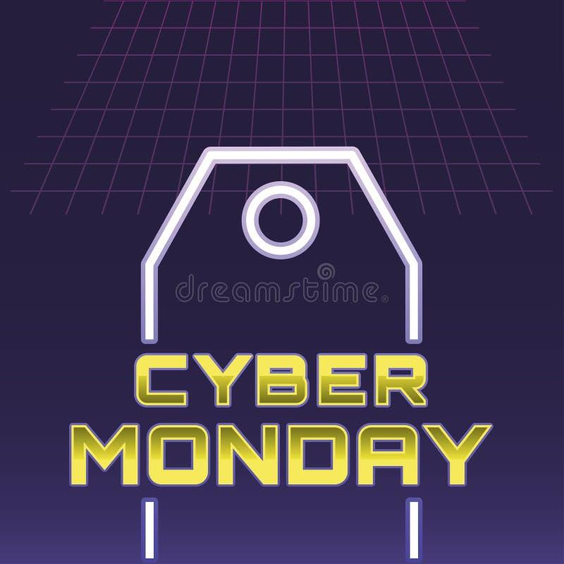 Kreativer Cybermontag-Illustration Design-Vektor Art Logo lizenzfreie abbildung