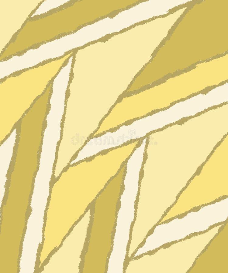 Kreativer gelber Hintergrund Abstrakter heller dunkler Hintergrund parallelogramm flach Auch im corel abgehobenen Betrag stock abbildung