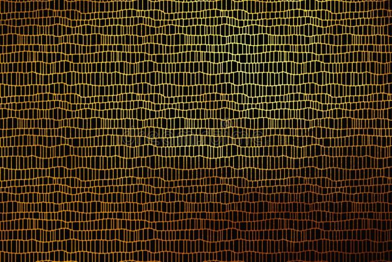 Kreativer hinaufkletternder abstrakter Luxushintergrund des digitalen goldenen Gitterbeschaffenheits-Musters Vektorbild, Abbildun stockbilder