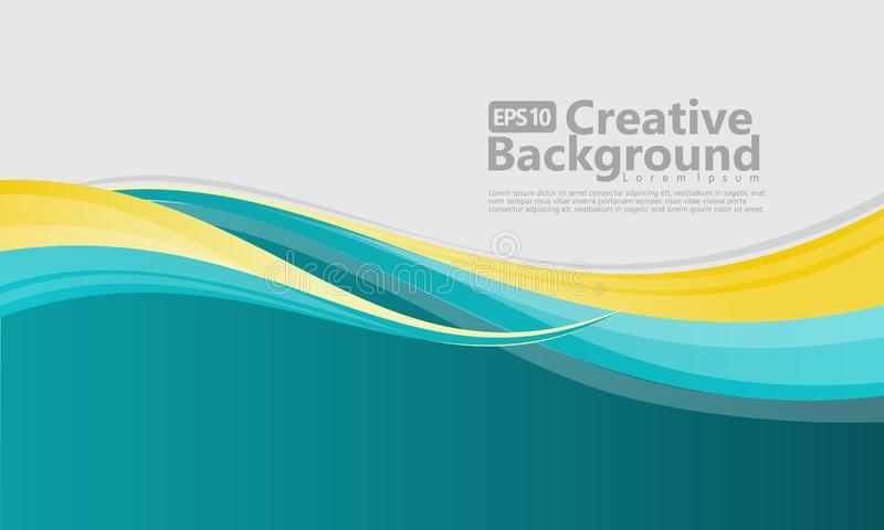 Kreativer Hintergrund der neuen abstrakten Wellenart stock abbildung