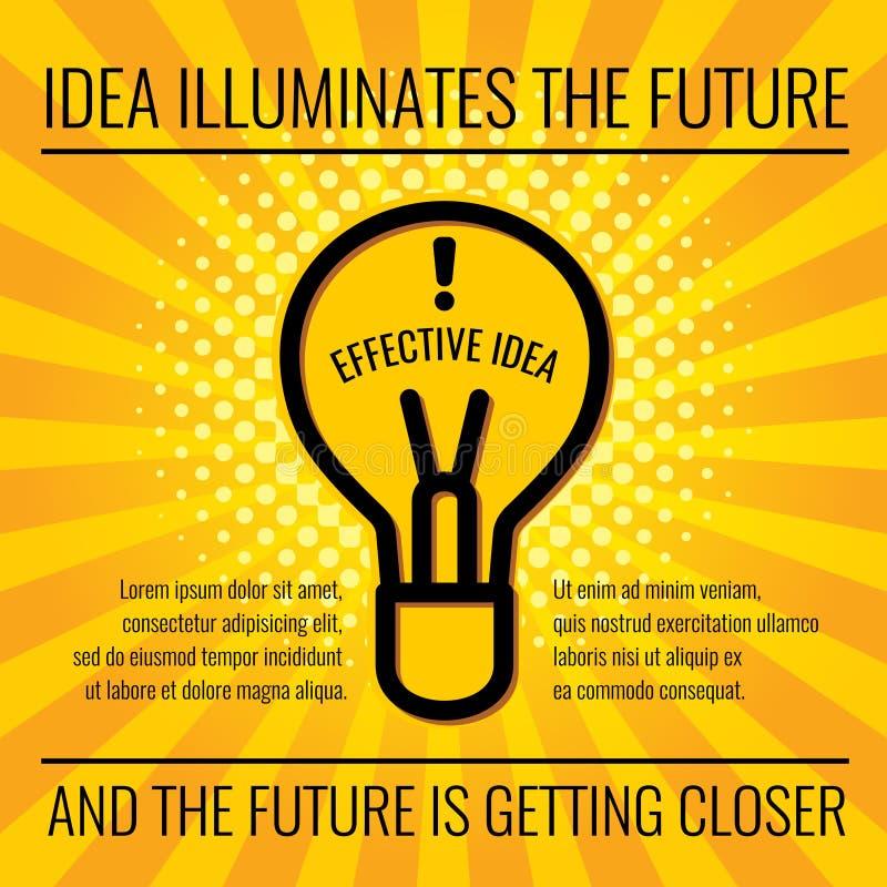 Kreativer Ideenvektorgeschäfts-Konzepthintergrund stock abbildung