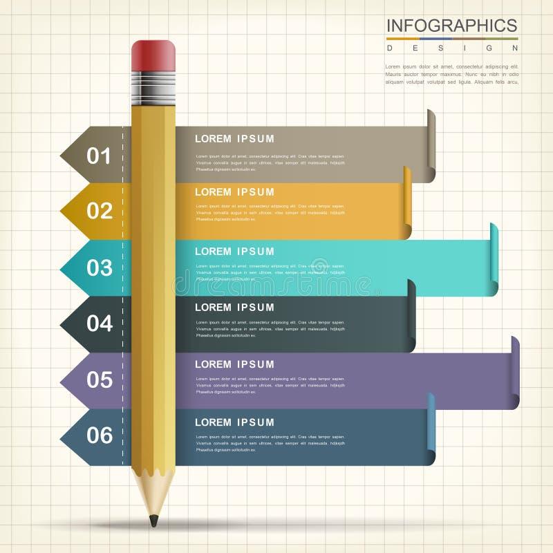 Kreativer infographic Entwurf stock abbildung