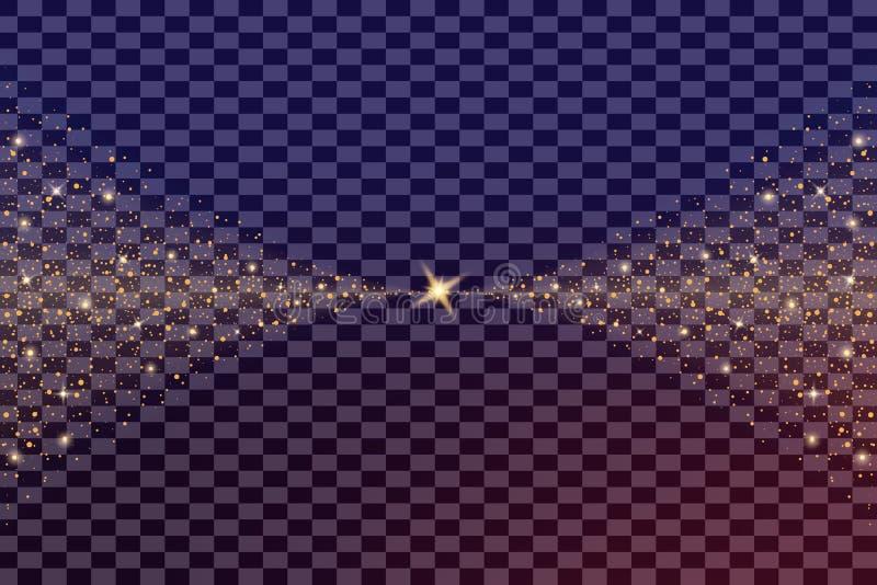 Kreativer Konzept Vektorsatz Lichteffektsterne des Glühens birst mit den lokalisierten Scheinen vektor abbildung