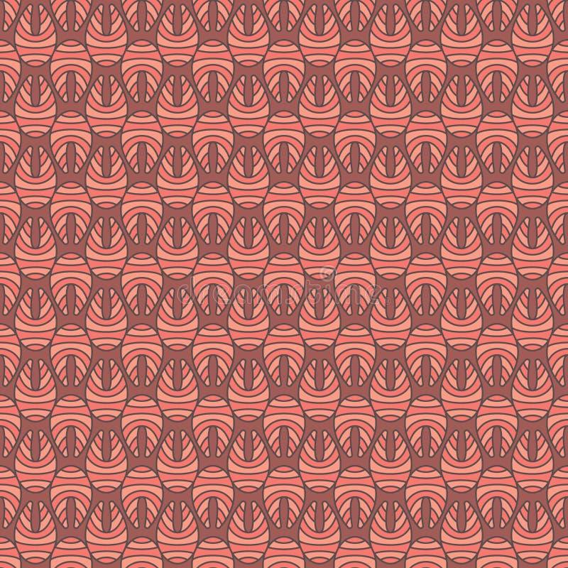 Kreativer Lachsfischsteakvektor färbte nahtloses Muster stock abbildung