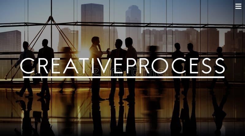 Kreativer Prozessdesign-Geistesblitz-denkendes Visions-Ideen-Konzept lizenzfreies stockbild