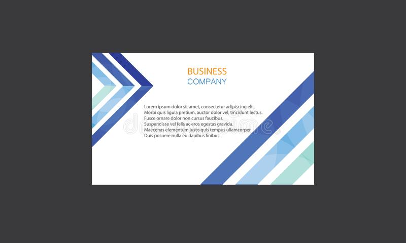 Kreativer Visitenkarte-Design-Vektor Firmenvisitenkarteschablonen Lay-out Clean Company moderner kreativer stock abbildung