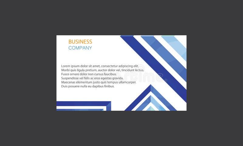 Kreativer Visitenkarte-Design-Vektor Firmenvisitenkarteschablonen Lay-out Clean Company moderner kreativer lizenzfreie abbildung