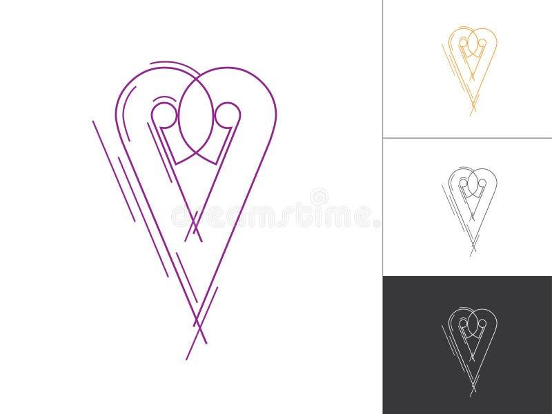 Kreatives Alphabet-und Zahl-Firmenzeichen-Skizzen-Konzept im Vektor Moderner abstrakter Buchstabe Logo Elements stock abbildung